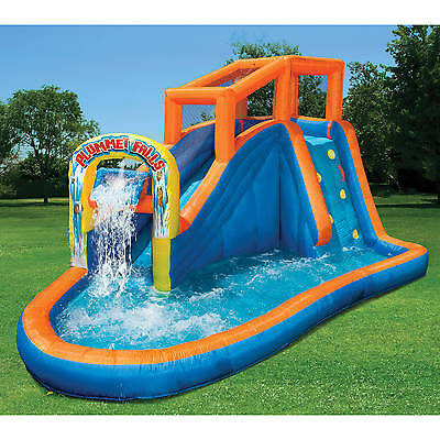 Inflatable Water Slide Bounce House Giant Swimming Pool Outdoor Parties Backyard