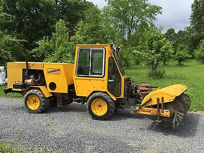 Trackless Mt Utility Vehicle / Tractor With Broom Snow Blower Low Cost Shipping