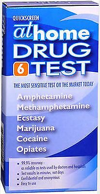 Quickscreen At Home Drug Test 99% Accuracy, 6 panel, 1 test  PRIVATE LISTING***