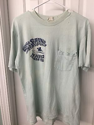 Vintage 1972 World Surfing Championship Large Blue  Very Rare T-Shirt