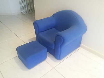 Kids Sofa Chair and Ottoman Set, Royal Blue, very cute! Good used condition.
