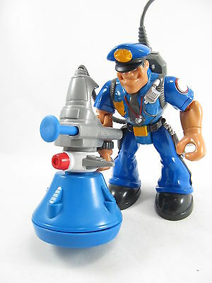 Fisher Price 1998 Rescue Heroes Sergeant Siren Police Officer