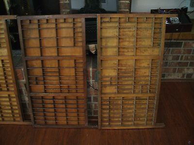 Vintage Printer's Wooden Type Drawers For Shadowbox