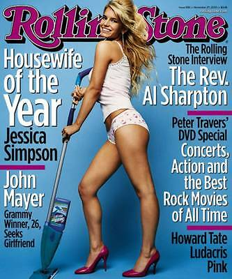 Jessica Simpson Rolling Stones Housewife of the Year Poster 34x22 Funky #7517