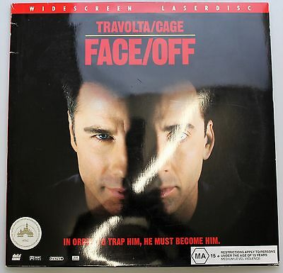 Widescreen Laser Disc FACE OFF Travolta/Gage