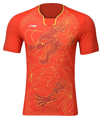 Li Ning NATIONALTRIKOT CHINA rot  Tischtennistrikot Badminton Tischtennis Polo