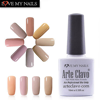Nude Color Gel Arte Clavo Fashion  Soak Off Gel Nail LED UV Gel Nail Polish 10ml
