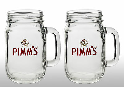 Pimm's Jar Glasses  With Pimm's Stirrers X 2 New