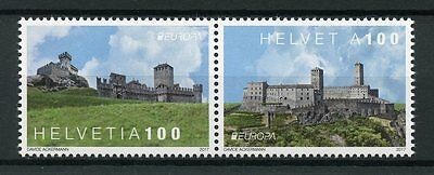 Switzerland 2017 MNH Europa Castles 2v Set Architecture Tourism Stamps