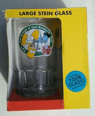 c2001 collectable The Simpsons large stein glass cartoon barware