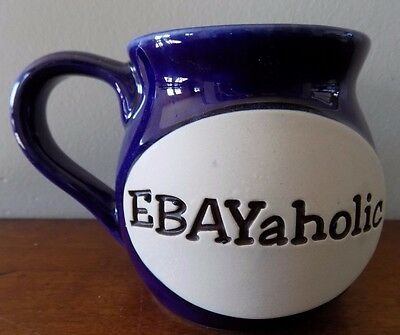 eBayaholic Blue and White Ceramic Coffee Mug Ebay Lover