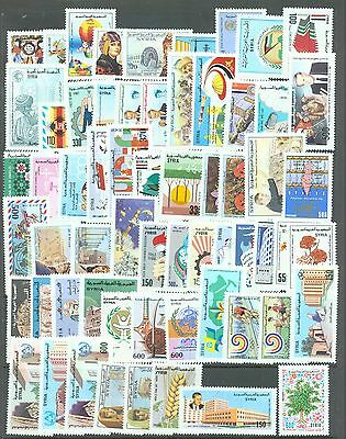 Syria 1987-8   62 stamps sg.1649-1714 all MNH (1657 with corner fault)