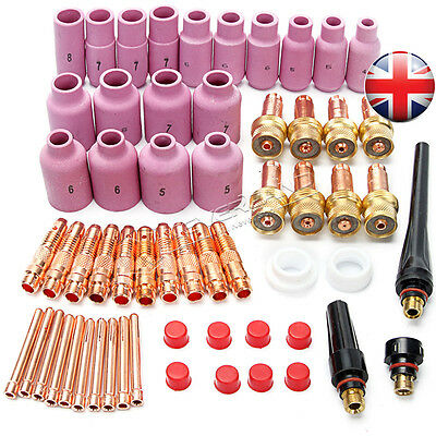 51PCS TIG Welding Torches Accessories Consumables Gas Lens Kits For WP 17 18 26
