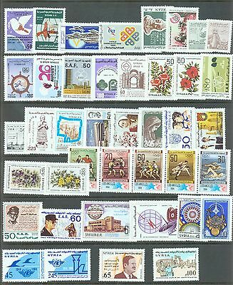 Syria 1983-84    41 stamps sg.1548-89 all MNH (2 with short corner perfs)