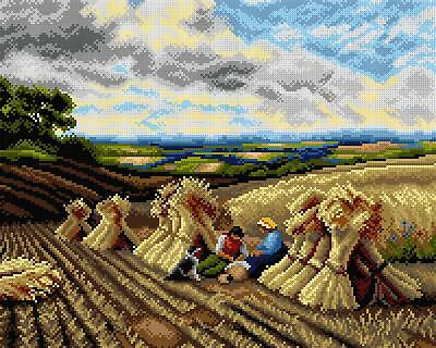 Deco-Line Printed Tapestry/Needlepoint Canvas – Harvest Time