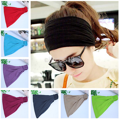 Yoga Hair Band Head Scarf Wrap Elastic Band Bandana Cap Multi Use Headwrap au^