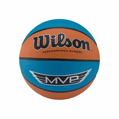 WILSON Mini rubber Basketball [orange/blue]
