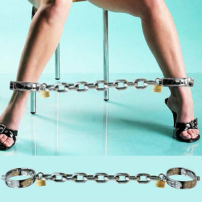 Unisex Luxury Stainless Steel Ankle Shackles with Locks
