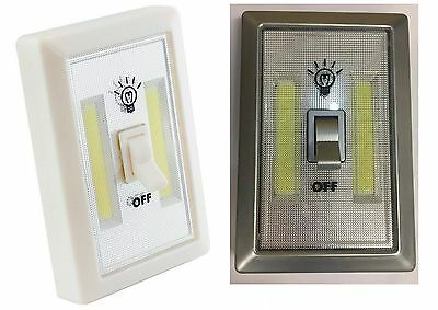 LED Cob Switch Light Cordless Battery Operated Night Lights Cabinet Shelf Shed
