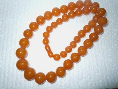 Ambra -Baltic Amber Gr.24 Collana Vintage Anni '70/80