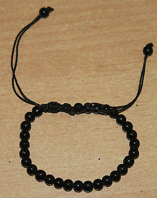 Black Agate Stone Of Protection Bracelet Helps Releasing Negativity H5