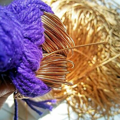 ANTIQUE GOLD French Wire, Bullion Wire, Gimp Wire 50/400 Grams FREE SHIPPING