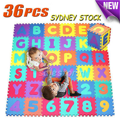 36pcs Kids Baby Alphabet & Number EVA Foam Floor Rug Puzzle Play Mat EXTRA LARGE