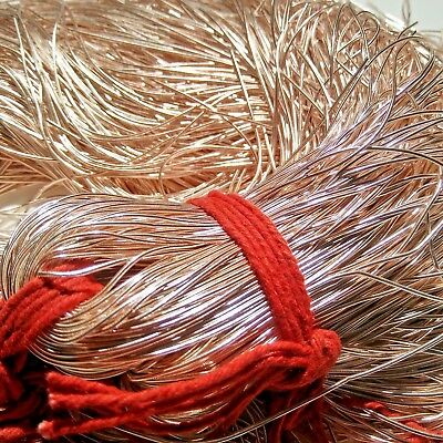 ROSE GOLD Metallic French Wire, Bullion Wire, Gimp Wire 50/400 Gms FREE SHIPPING