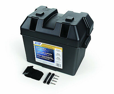 Group 24 Battery Box Marine RV Boat Trailer Camper Holder Strap Storage Case NEW