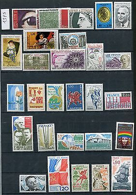 FRANCE ANNEE 1975 COMPLETE sauf 1831 & 1834 à 1837 TIMBRES NEUFS TB**
