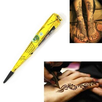 Black Henna Cone 100% Herbal Hena Mehandi Cone Temporary Body Arm Tattoos Tools