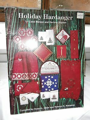 Vtg Holiday Hardanger Embroidery 1991 Meier Watnemo 32 pages