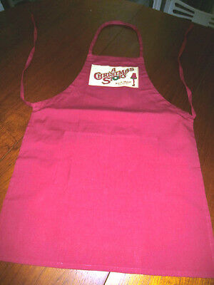 A Christmas Story Red Cotton Kitchen Apron Shoot your Eye out