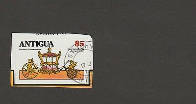 Antigua - $5 'used' stamp from booklet 514