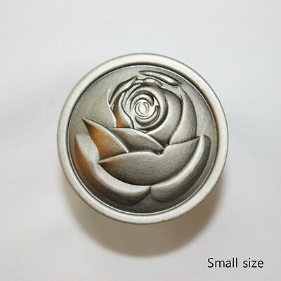 10 pcs Antique Silver Small size 30 mm Rose Knobs Cabinet Drawer Pulls JS2230