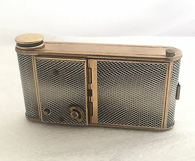 1930's ART DECO REUGE STE-CROIX MUSICAL COMPACT, LIPSTICK AND MANICURE HOLDER