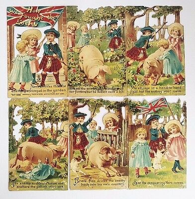 Vintage 1800's RARE Victorian Paper Cards Postcard Raphael Tuck and Sons Die Cut