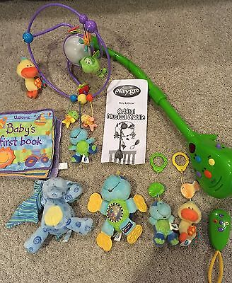 Bulk Lot Baby Toys. Playgro Musical Mobile + Usborne Book.
