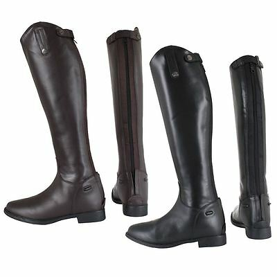 Horka Anna Adults Back Zipper Rubber Sole Horse Riding Long Competition Boots
