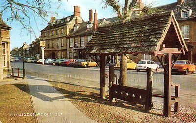 1960s postcard The Stocks WOODSTOCK Oxfordshire