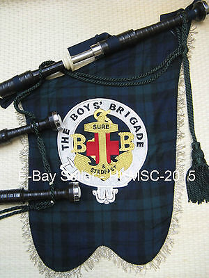 Obsolet Genuine Boys' Brigade Pipe Band - Highland Bagpipe Banner
