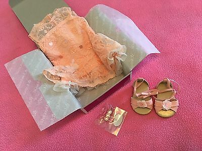 New American Girl Shimmer And Lace Party Dress Gown Peach Beautiful Gorgeous