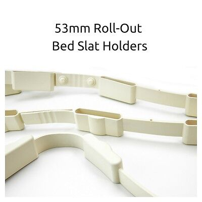 Roll Out 53mm Rubber Bed Slat Holders/ Strips - Supplied as Pair - Free Delivery