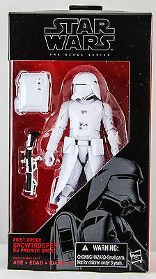"HASBRO STAR WARS THE BLACK SERIES 6"" 6 Inch #12 FIRST ORDER SNOWTROOPER FIGURE"