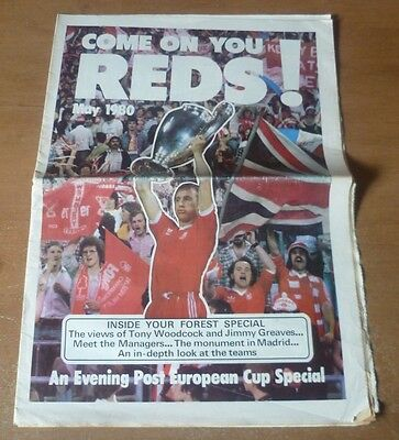 Forest: Come on You Reds! - Evening Post European Special Newspaper Supplement.