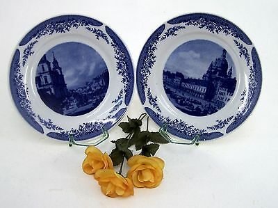 2 Kahla Porzellan Wandteller Canaletto 1720 - 1780 Dishwasher Safe Made in GDR