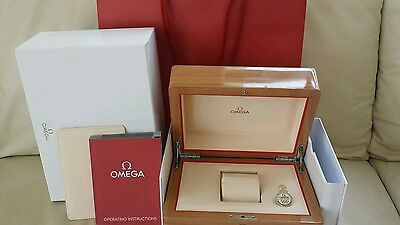 Omega Watch Box With Gift Carry Bag.
