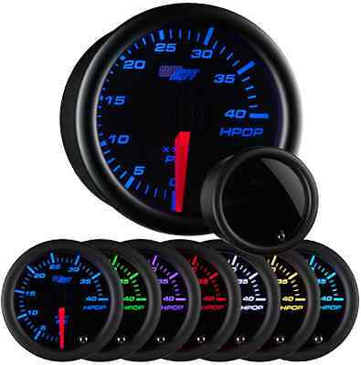 GlowShift Tinted 7 Color High Pressure Oil Pressure HPOP Gauge GS-T721