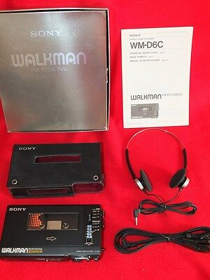SN60939 GENUINE amorphous Sony Walkman Professional WM-D6C TC-D6C Boxed + MDR-40