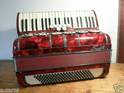 FISARMONICA scandalli accordion acordeón Akkordeon 120 bassi in 4 à